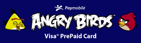 Shopping is Easy With the Paymobile Angry Birds Visa Prepaid Card!