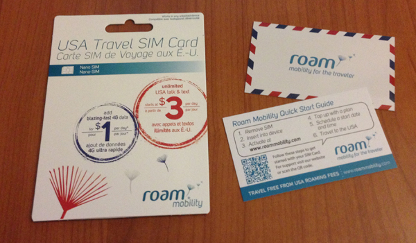 Canadians can travel to the USA without roaming fees? With Roam Mobility we can!
