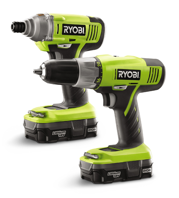 win a ryobi 18v drill and impact driver from home depot big daddy kreativ. Black Bedroom Furniture Sets. Home Design Ideas