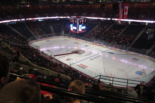 A trip to the Hamilton Bulldogs vs. Rochester Americans game. #HamOnt