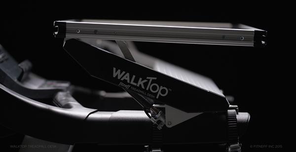 Working while Walking with the WalkTop Treadmill Desk. #WALKTop @WALKTop_Fitneff