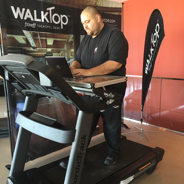 Working While Walking With The WalkTop Treadmill DeskBig