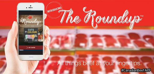 "Canadian Beef's ""The Roundup"" App. @LoveCDNBeef #CanadianBeefApp"