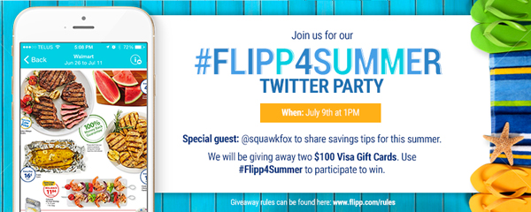 Join us for Flipp 4 Summer Twitter Party, Thursday 1pm ET! @GetFlipp #Flipp4Summer