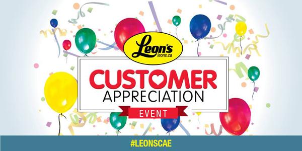 It's @LeonsFurniture Customer Appreciation Event, and you can win FREE Furniture! #LeonsCAE