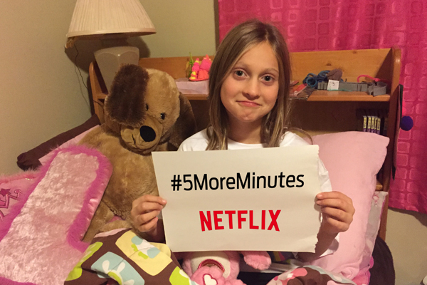 Awe Daddy, can I stay up for 5 more minutes? @Netflix_ca #5MoreMinutes #StreamTeam