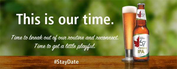 Our Stay Date: Movies, Pizza, and @MolsonCdn67 Session IPA. #StayDate
