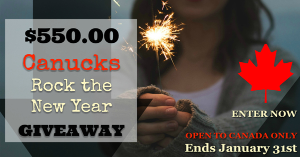 Canucks Rock the New Year with a $550 CAN giveaway!