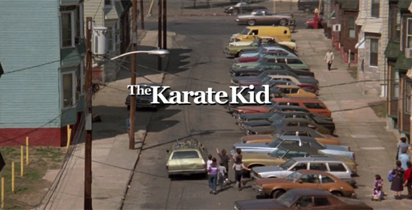 karate kid title screen feature