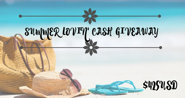 Summer Lovin' $425 USD PayPal Cash Giveaway! #SummerLovinCash