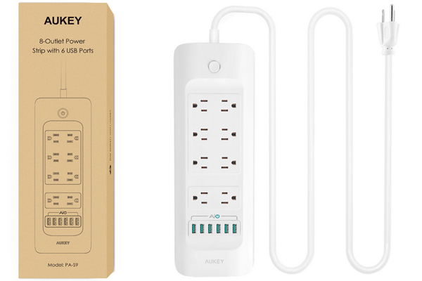 No shortage of outlets and ports: the AUKEY PA-S9 Power Strip