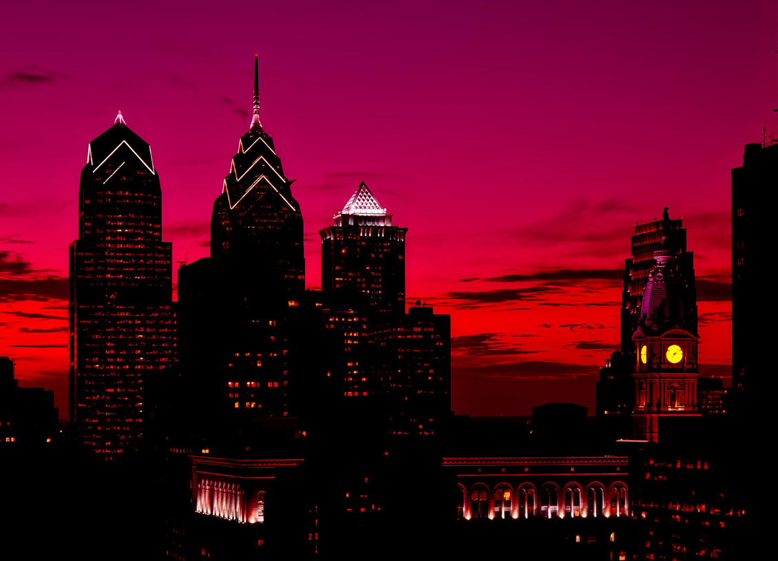 philadelphia red sky