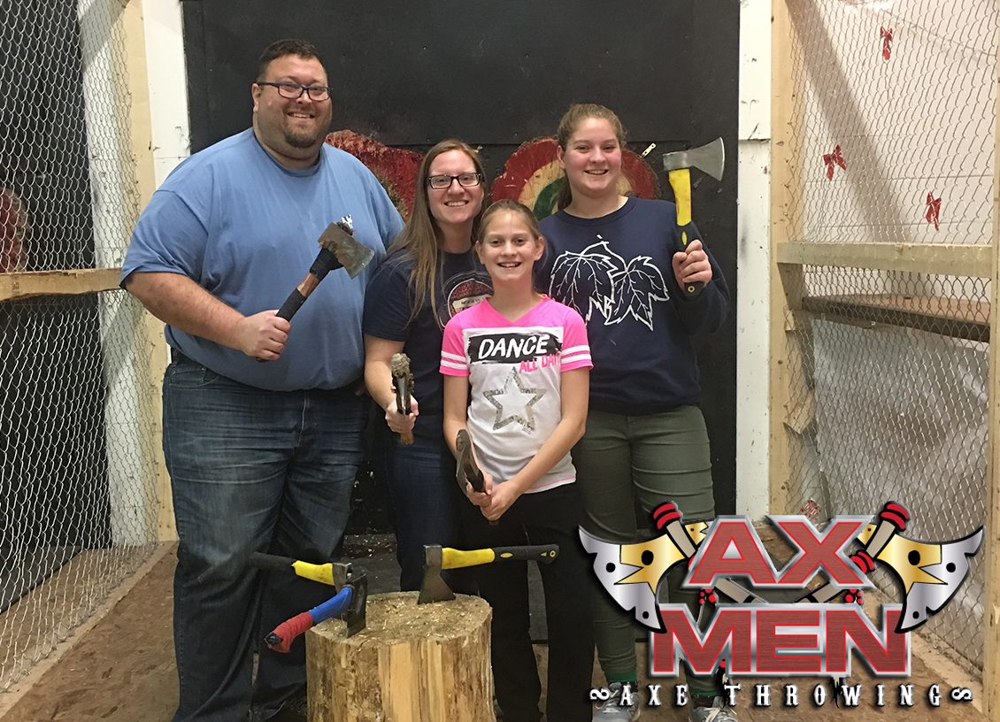 Finding our Inner Lumberjack at Ax Men Axe Throwing in Orillia!