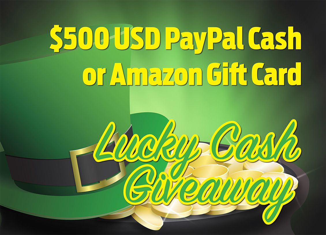 Enter the Lucky Cash Giveaway! Win $500 PayPal Cash! #Giveaway
