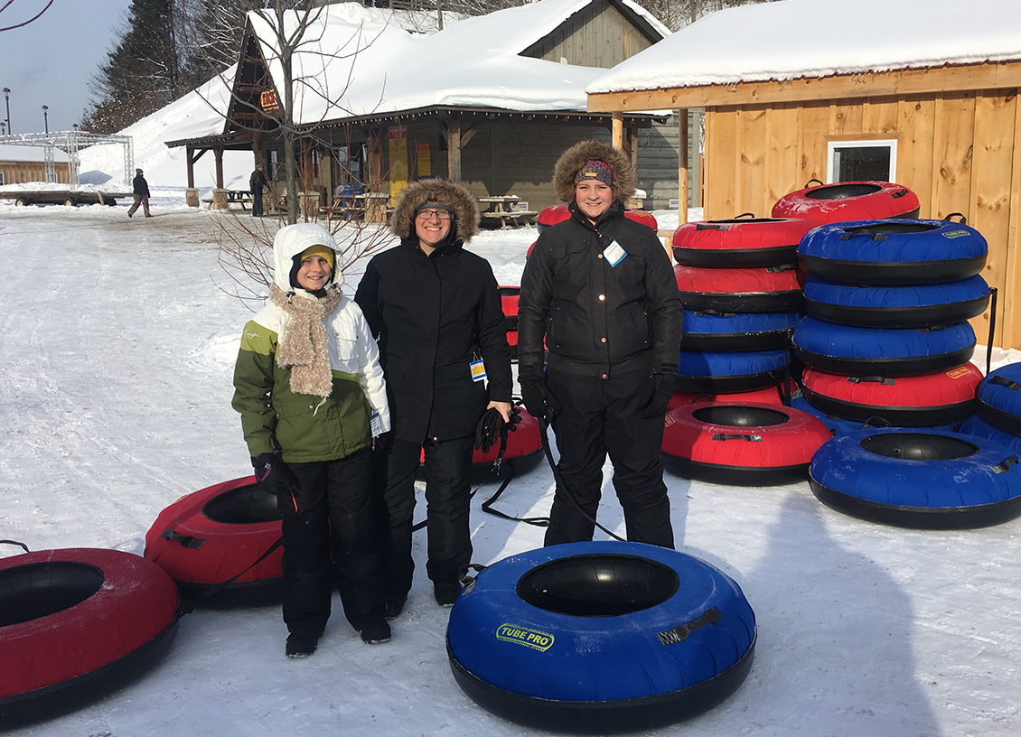 Snow Tubing and Mini Snowmobiling at Horseshoe Resort!